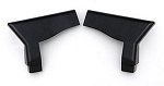 1986 - 1987 Corvette Convertible Lock Pillar Trim. Pair. Black