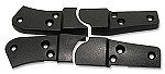 1979 - 1982 Corvette Seat Hinge Covers, Black - Dye to Match