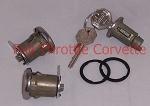1965 Corvette Door and ignition Lock Set with Octagon Head Keys