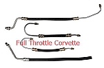 1980 - 1982 Corvette Small Block Power Steering Hose Set, 4 Hoses. US Made