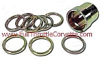 1963 - 1982  Corvette Rear Wheel Bearing Shim & Spacer Kit.