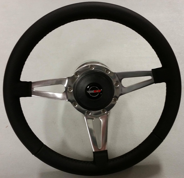 1984 1989 Corvette Aftermarket Steering Wheel With Hub