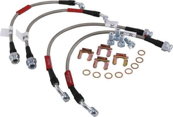 C4 Corvette Brake Lines : Corvette stainless steel brake hose set