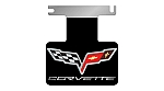 2005 - 2009 Corvette Exhaust Enhancer Plate C6 Black with Logo and