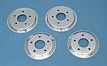1997 - 2004 Corvette Brake Rotor Hub Covers, Chrome