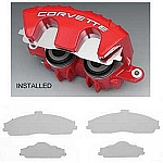 1997 - 2013 Corvette Stainless Steel Brake Pad Covers