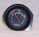 1968 - 1971 Corvette Battery Voltage Gauge (Green Characters)