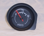 1972 - 1974 Corvette Battery Voltage Gauge (White Characters)