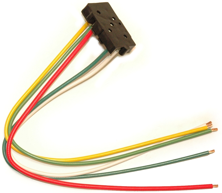 1963 - 1967 Corvette Power Window Switch Connector with Pigtail Wiring Harness Repair Connectors on