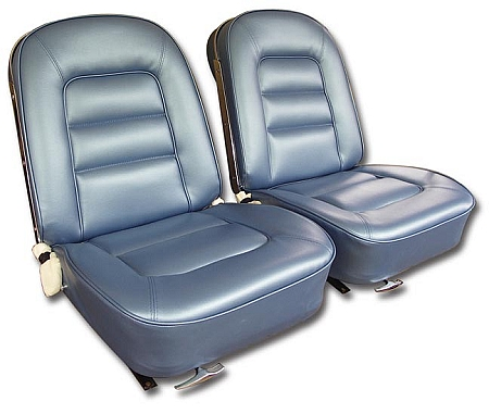 Home C2 Corvette 63 67 Interior Seat Related 1965 Vinyl Covers