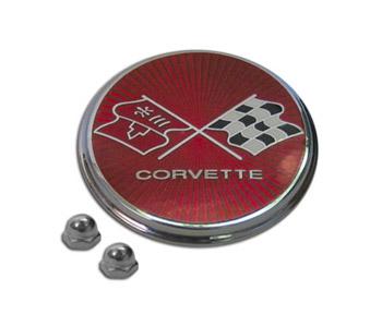 Corvette Stingray  on 75 76 Corvette Fuel Door Emblem  Trim Parts