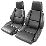 1984 - 1988 Corvette Mounted Non-Perforated Leather-Like Seat Covers (standard seats)(full set)