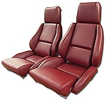 1984 - 1988 Corvette Mounted, Perforated,  Leather-Like Seat Covers (standard seats)(full set)
