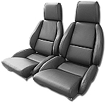1984 - 1988 Corvette Mounted, Perforated,  Leather Seat Covers (standard seat)(full set)