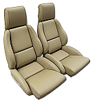 1984 - 1988 Corvette Mounted Non-Perforated Leather Seat Covers (standard seats)(full set)