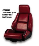 1984-1988 Corvette Sport Seat Leather-Like Non-Perforated seat covers.