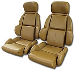1989 - 1992 Corvette Mounted Leather-Like Seat Covers (Standard Seats)(full set)