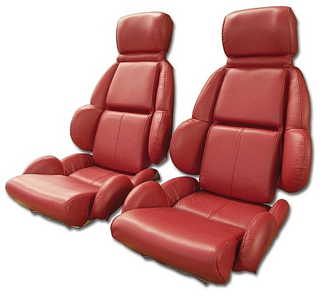 1989 1992 Corvette Mounted Leather Seat Covers Standard