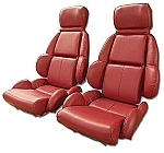 1989 - 1992 Corvette Mounted Leather Seat Covers (Standard Seats)(full set)