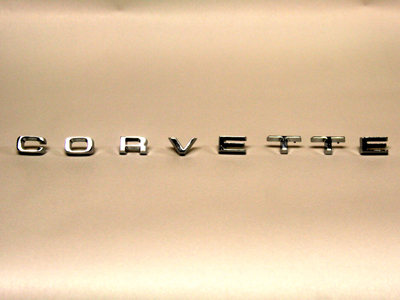 Corvette Stingray Gifts on 1974 1975 Corvette Rear Emblem Letters   Reproduction