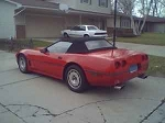 1986 - 1993 Corvette Black Stayfast Convertible Top