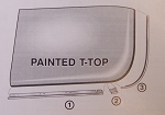 1968 - 1976 Corvette T-Top Stainless Molding Set. 6 Pcs
