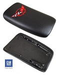 1997-2004 Corvette Console Door in Black with Red Embroidered Logo