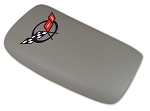 1997-2004 Corvette Console Door in Gray with Black Embroidered Logo