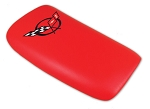 2000-2004 Corvette Console Door in Torch Red with Black Embroidered Logo