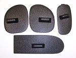 C5 corvette Dash Vent Covers. Set of 4 in Black