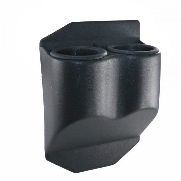 Double Travel Buddy Cup Holder For C6 Corvette In Black