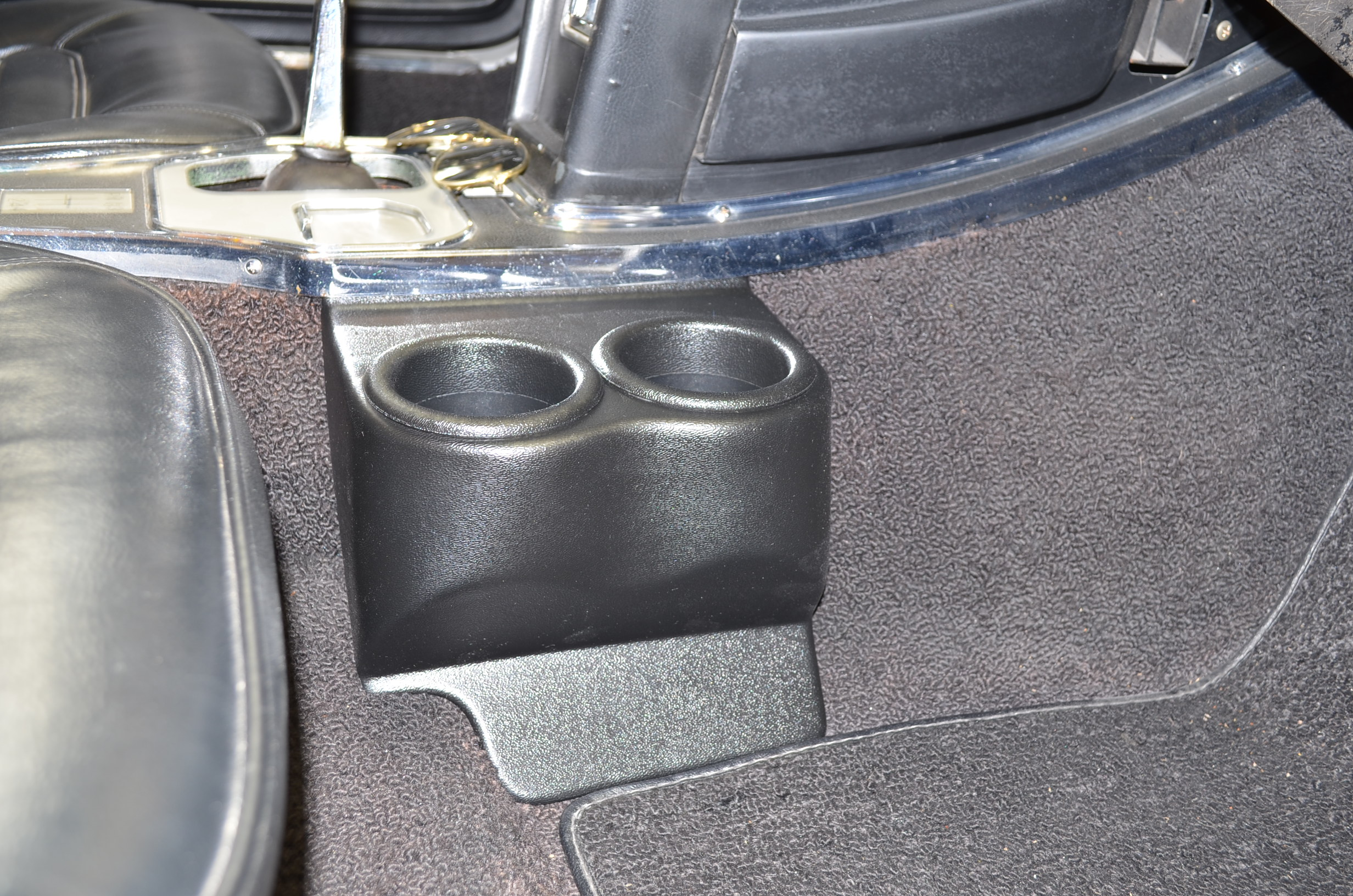 Double Travel Buddy Cup Holder For C2 Corvette In Black