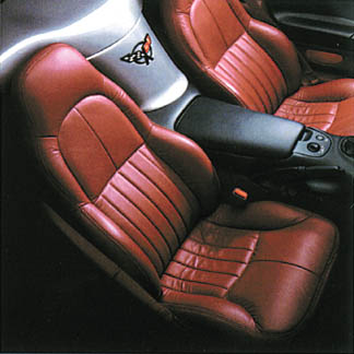 C5 Corvette LeatherVinyl Seat Covers For Standard Seats 97 01