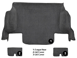 2005 - 2013 Complete Rear Carpet Set in Tru-Vette