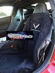2014 - Current Seat Towel with C7 Logo and Corvette Script