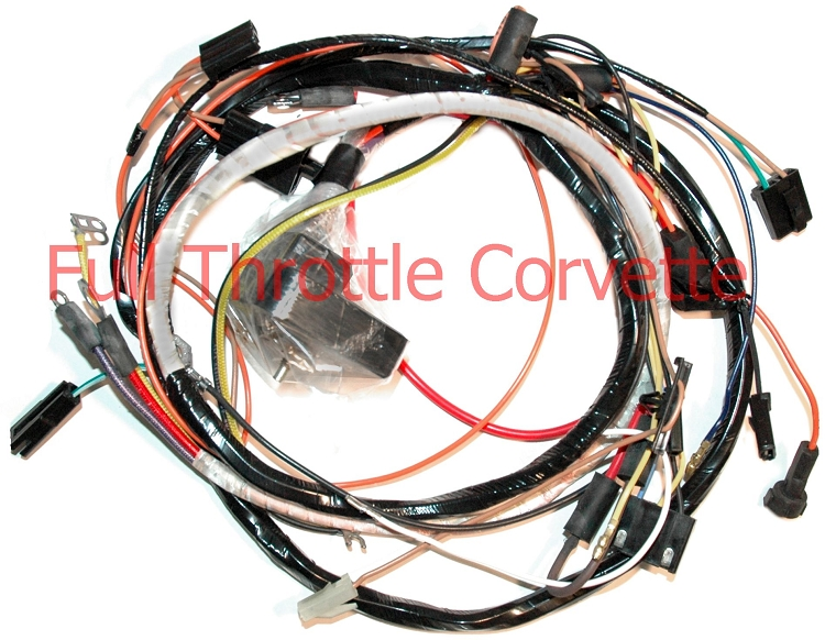 NEW Big Block with manual transmission 74 Corvette Engine Wiring Harness