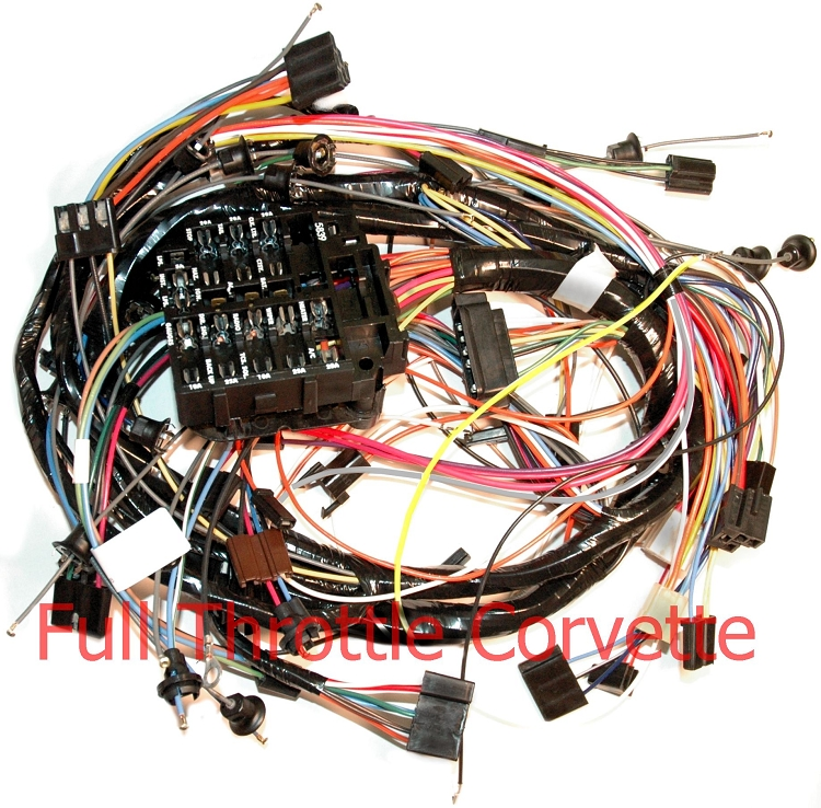 1971 corvette dash harness without ac c3 wire harness w/ac 1972 Wire Harness Assembly