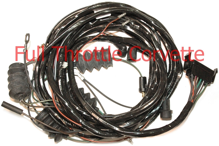 home > c2 corvette (63-67) > electrical > wiring harnesses > 1965 > 1965  corvette rear body harness for convertible with back-up lights