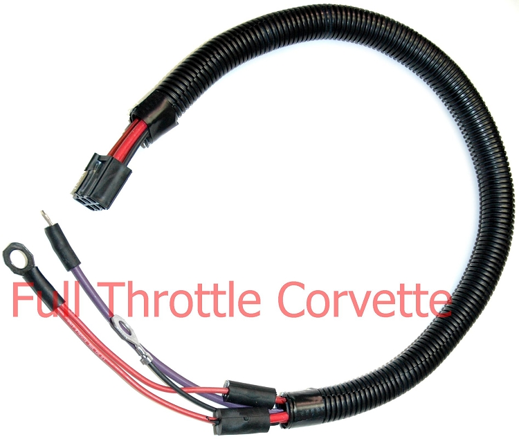1980 Corvette Starter Solenoid Ext  Harness  Cars Without L