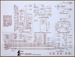 1976 Corvette Wiring Diagram: Laminated Wiring Diagram for your 1953 - 1982 Corvette,Design