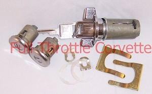1969-1978 Corvette Door and Ignition Lock Set with Square Head Keys