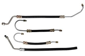 1963 - 1979 Corvette Small Block Power Steering Hose Set, 4 Hoses