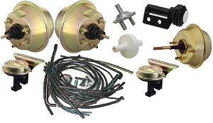 1969 Late Corvette Headlight And Wiper Vacuum System Kit