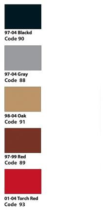 C5 Interior Color Chart