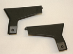 1988 - 1989 Corvette Convertible Lock Pillar Trim. Pair. Black