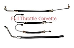 1965 - 1974 Corvette Big Block Power Steering Hose Set, 4 Hoses. US Made