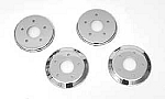 2005 - 2013 Corvette Brake Rotor Hub Covers, Chrome, Standard