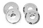2005 - 2013 Corvette Brake Rotor Hub Covers, Chrome, For Cars With Z51 & F55 Option