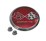 1975 - 1976 Corvette Fuel Door Emblem, Trim Parts