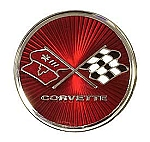 75-76 Corvette Fuel Door Emblem, Reproduction